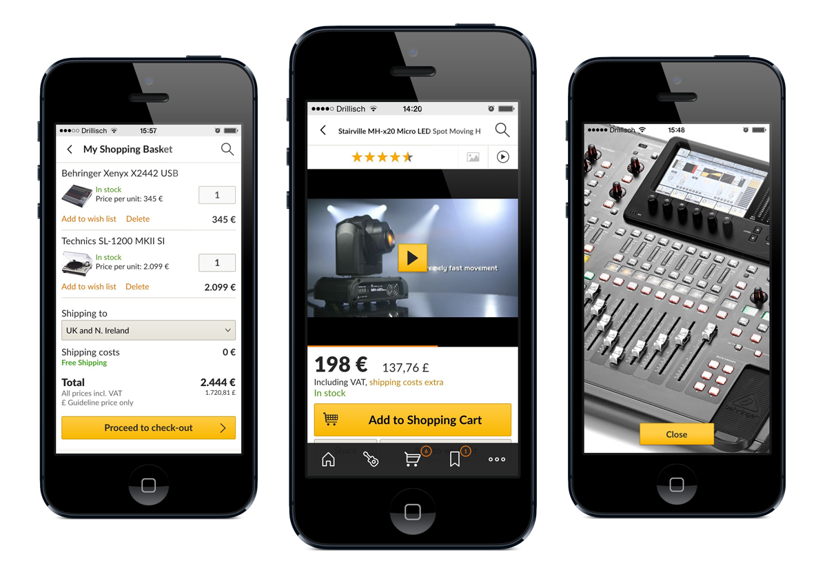 Thomann Official - Entwicklung der Mobile-Shopping-Apps